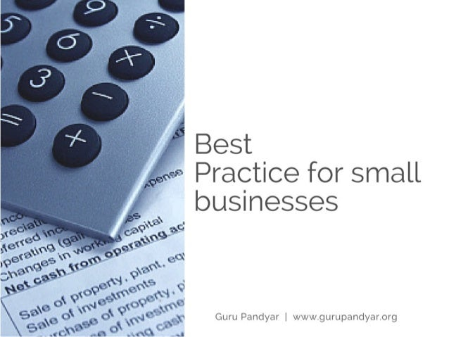 Best Accounting Practice for Small Business