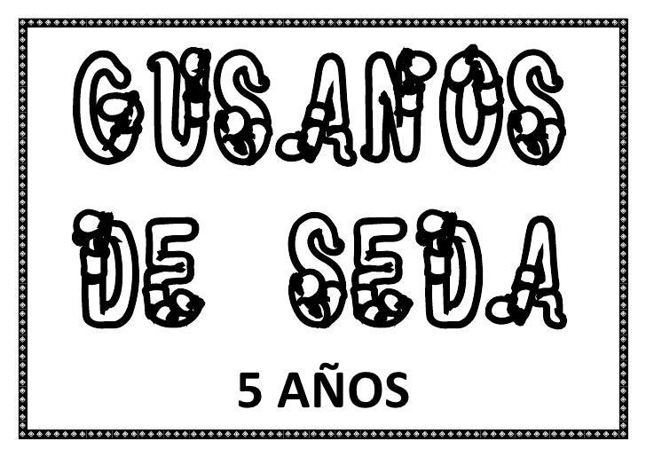 gusanoSDe SEDA  5 AÑOS