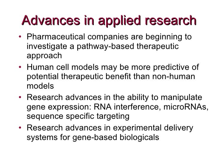 Forward Looking Research The Potential Of New Genetic Technologies