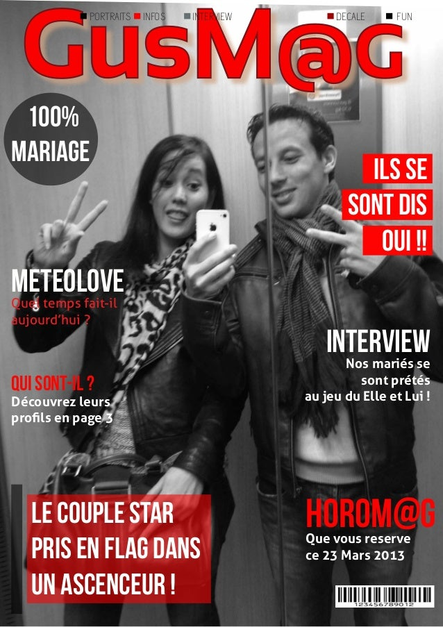 GusM@G             PORTRAITS   INFOS   INTERVIEW        DECALE     FUN 100%mariage                                        ...