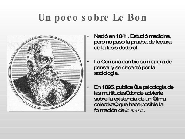 Las Masas Segun Gustave Le Bon