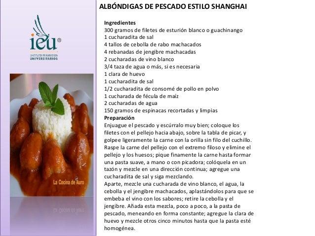 Ingredientes 300 gramos de filetes de esturión blanco o guachinango 1 cucharadita de sal 4 tallos de cebolla de rabo macha...