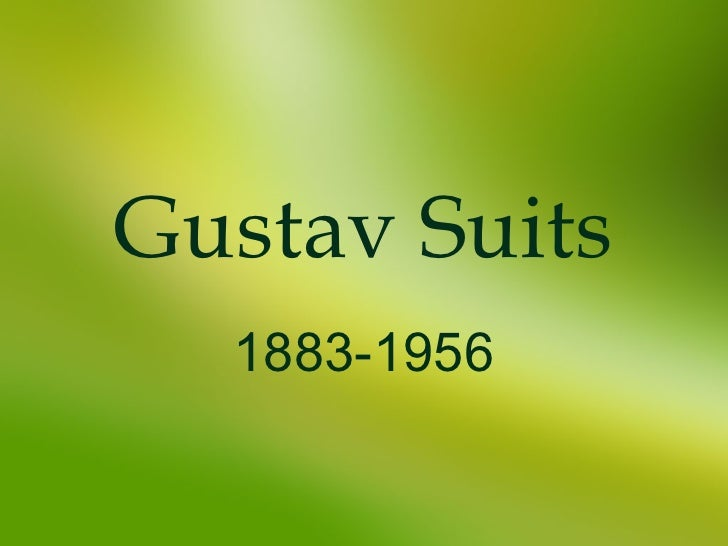 Gustav Suits 1883-1956