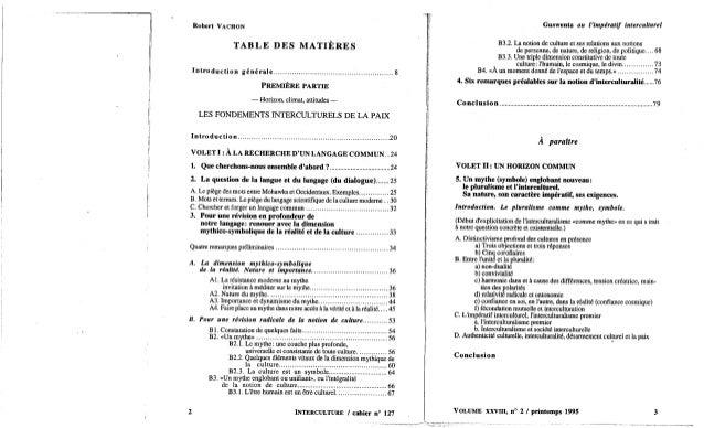 Guswenta ou l'imperatif interculturel 1 robert vachon Slide 3