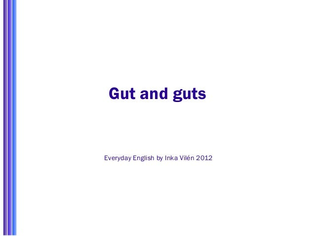 Gut and guts Everyday English by Inka Vilén 2012