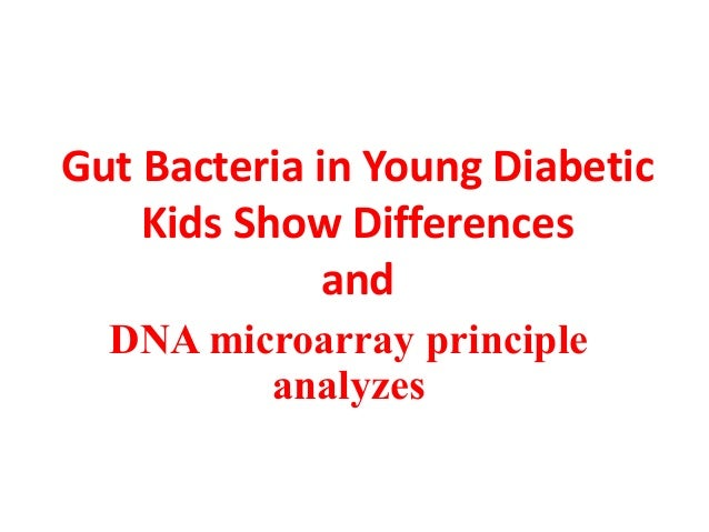 Gut Bacteria in Young Diabetic Kids Show Differences and DNA microarray principle analyzes