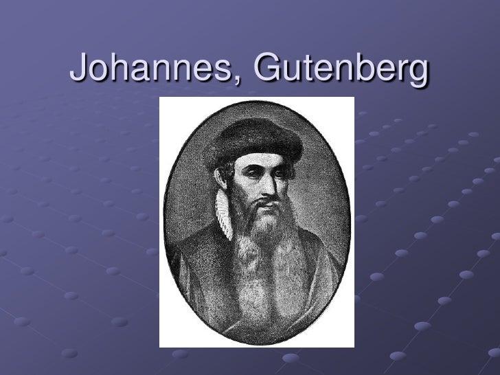 Johannes, Gutenberg