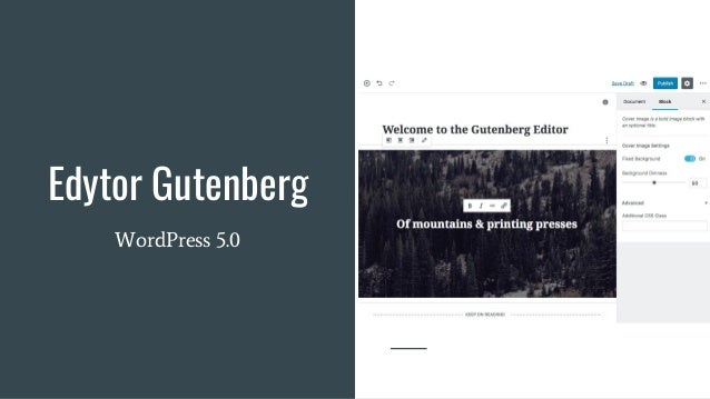 Edytor Gutenberg WordPress 5.0
