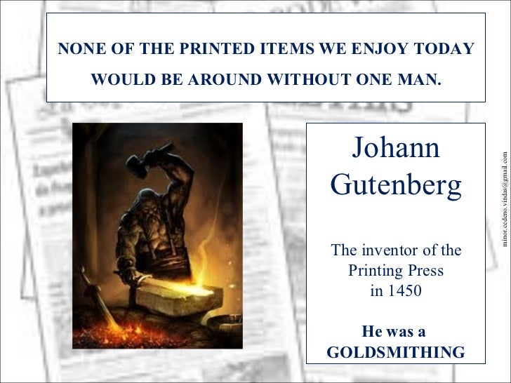 Gutenberg and the printing press Slide 3
