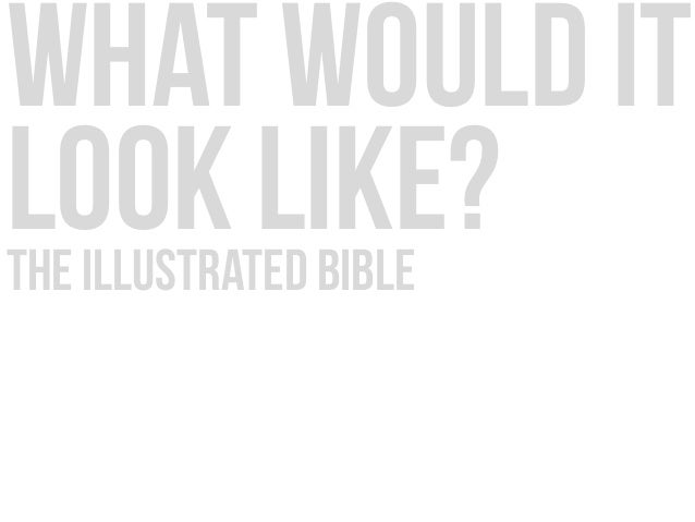 what would it look like?the illustrated bible