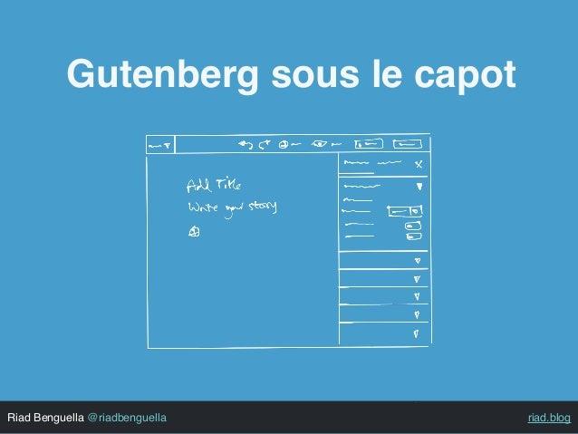 Riad Benguella @riadbenguella riad.blog Gutenberg sous le capot