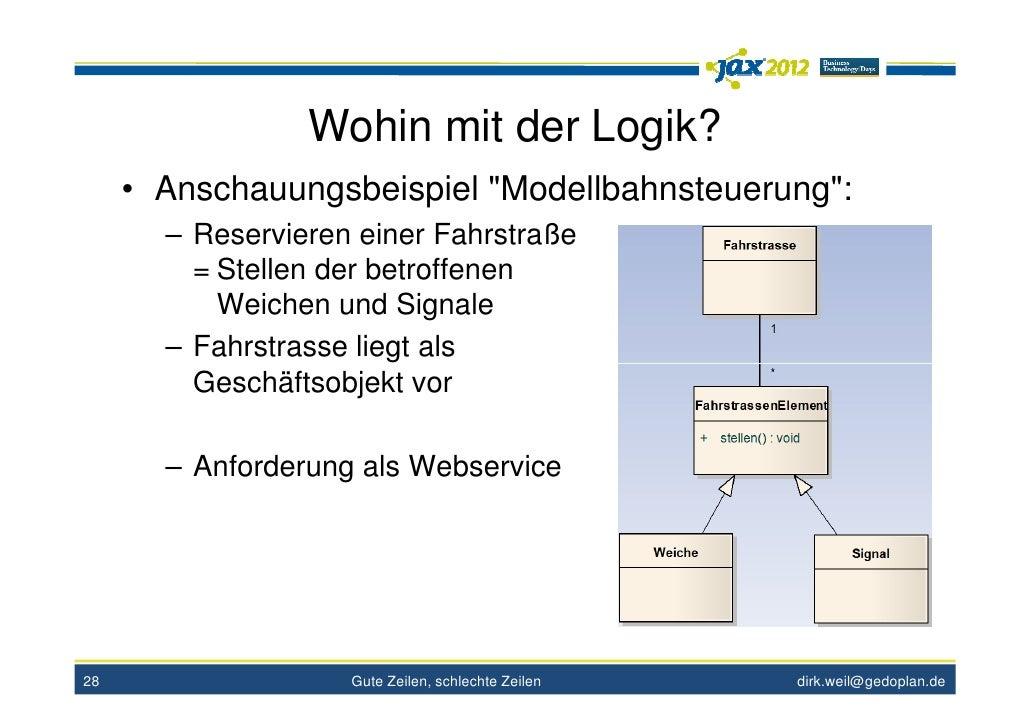"""Wohin mit der Logik?     • Anschauungsbeispiel """"Modellbahnsteuerung"""":       – Reservieren einer Fahrstraße         = Stell..."""