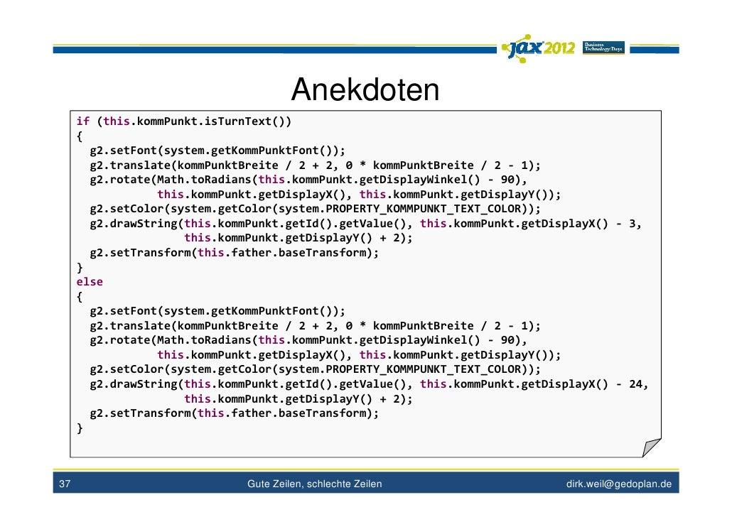 Anekdoten     if (this.kommPunkt.isTurnText())     {       g2.setFont(system.getKommPunktFont());       g2.translate(kommP...