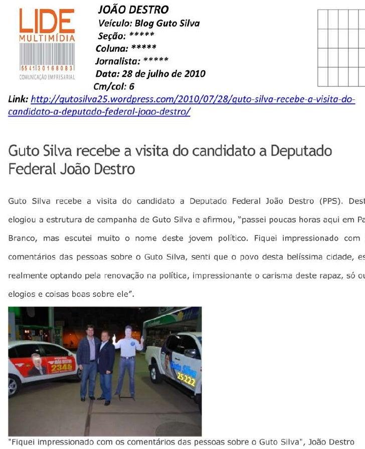 Guto silva recebe a visita do candidato a deputado federal joao destro