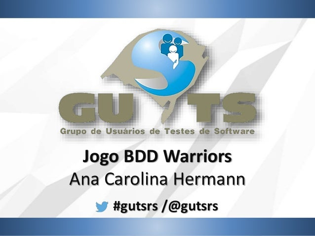 #gutsrs /@gutsrs Jogo BDD Warriors Ana Carolina Hermann