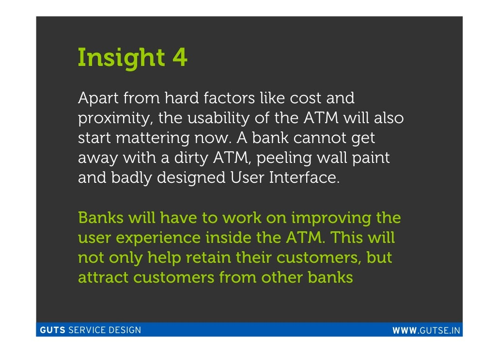 Apart Design Bank.Influencing Atm Usage Through Service Design