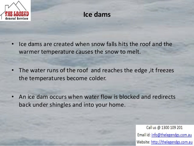 Gutter protection system to prevent ice dams Slide 2