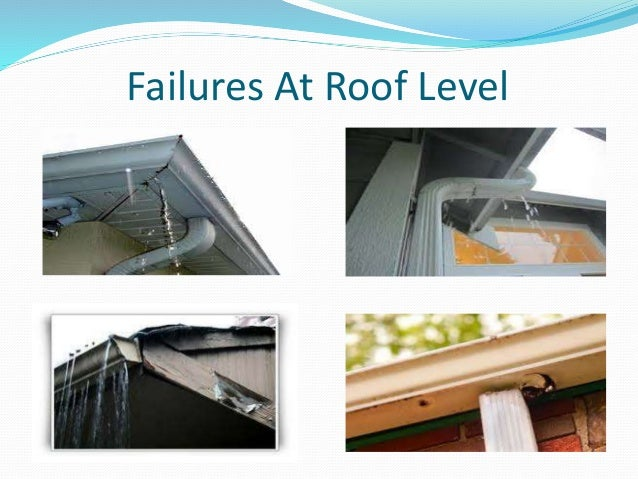 Failures At Roof Level; 13.