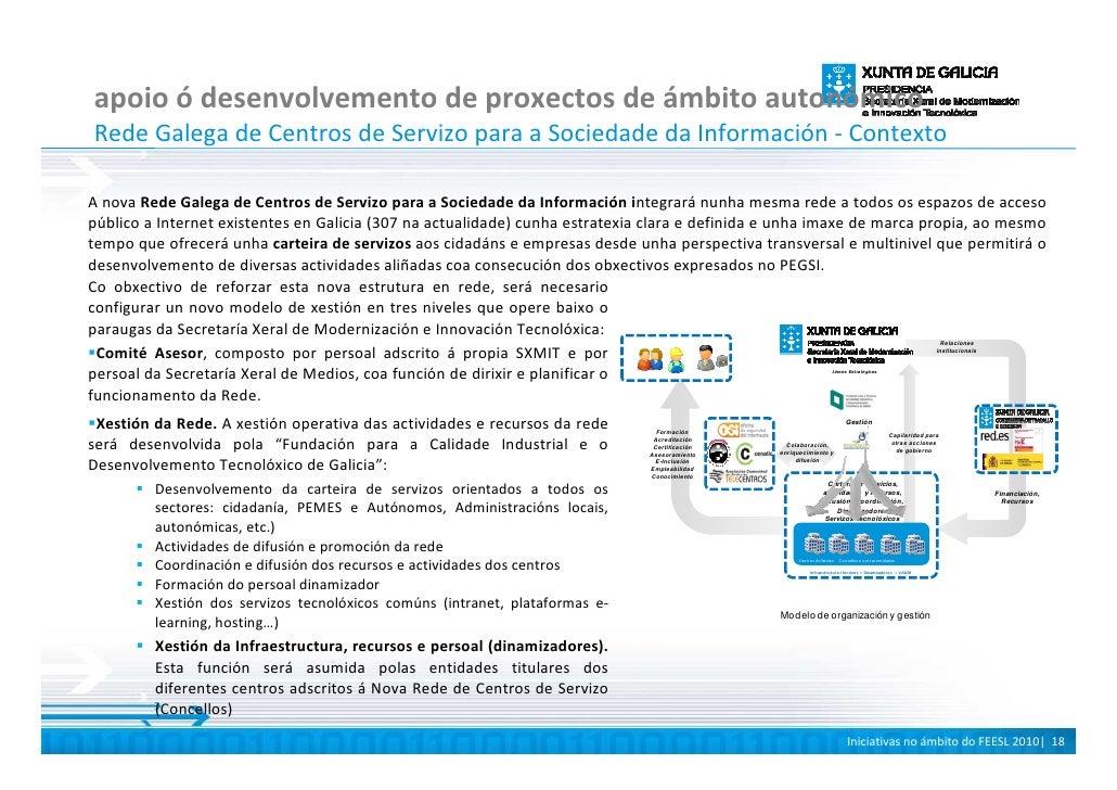 apoio ó desenvolvemento de proxectos de ámbito autonómico Rede Galega de Centros de Servizo para a Sociedade da Informació...