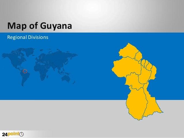 Map of Guyana Regional Divisions