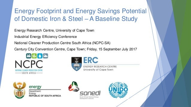 Energy Footprint and Energy Savings Potential of Domestic Iron & Steel – A Baseline Study Energy Research Centre, Universi...