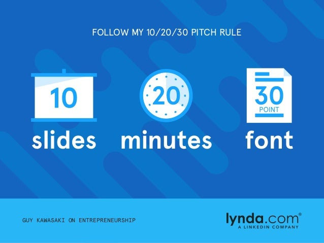 follow my 102030 pitch rule