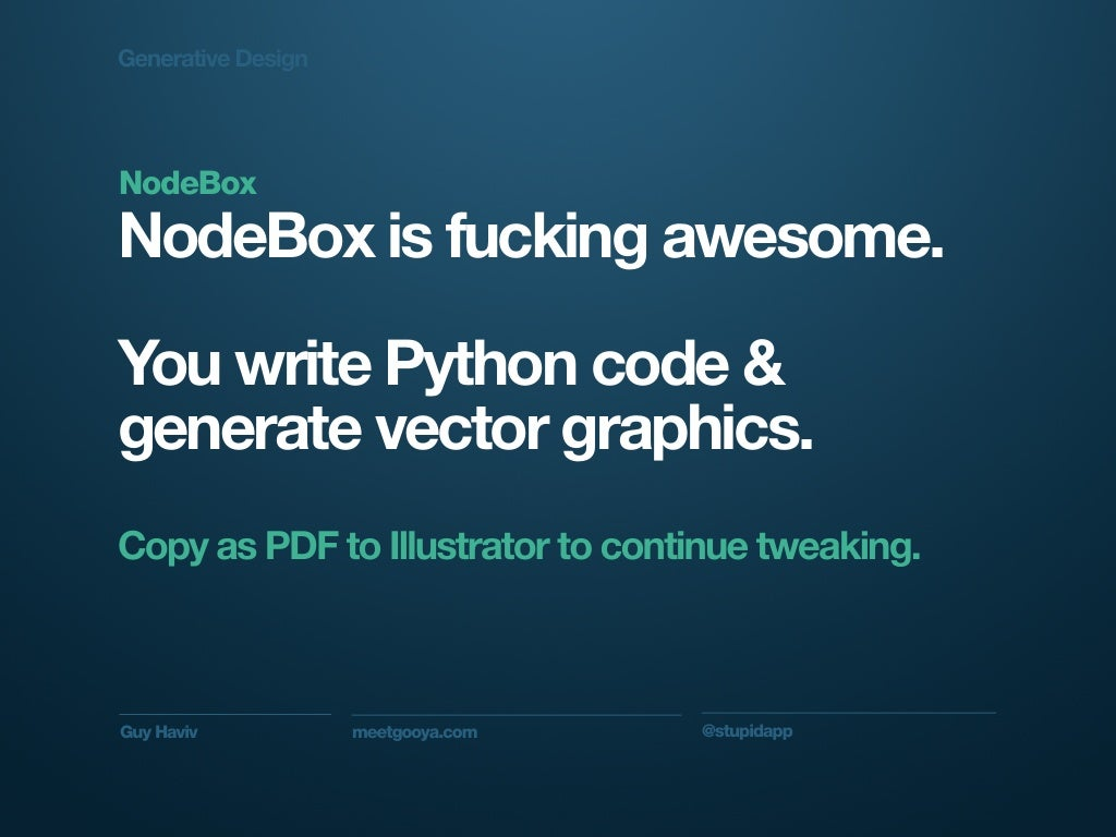 Generative Designnodeboxnodebox Is Fucking Awesome You