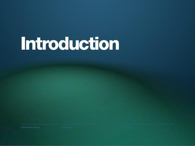 Designit in Barcelona: an introduction to Generative Design Slide 3