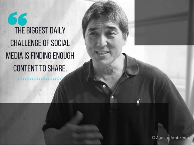 The biggest daily challenge of social media is finding enough content to share.