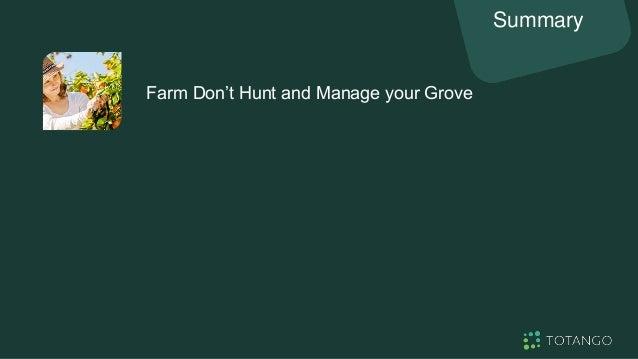 Farm Don't Hunt and Manage your Grove Summary Run Customer Success like a Business