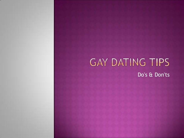 gay dating tips for guys