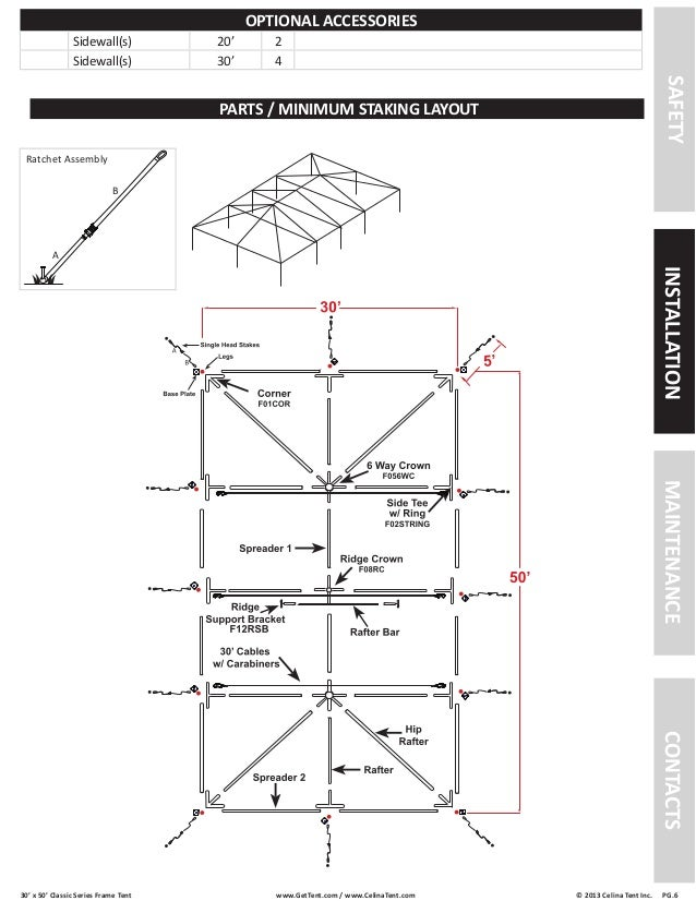 30 x 50 Frame Tent Installation Instructions