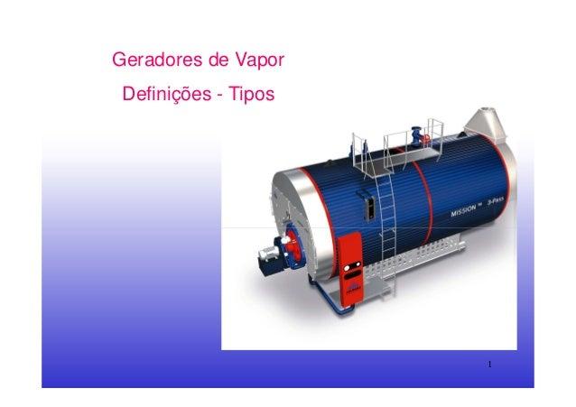 1Geradores de VaporDefinições - Tipos
