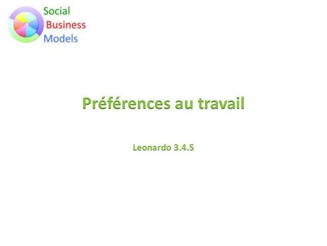 Préférences au travail Leonardo 3.4.5