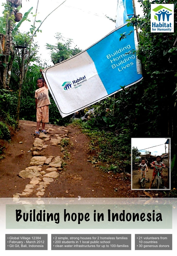 Building hope in Indonesia• Global Village 12384       • 2 simple, strong houses for 2 homeless families      • 21 volunte...