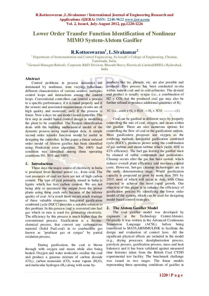 R.Kotteeswaran ,L.Sivakumar / International Journal of Engineering Research and                      Applications (IJERA) ...