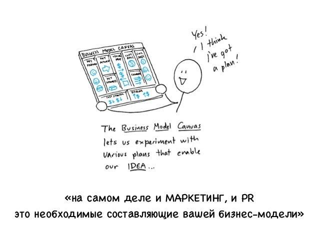 «на самом деле и МАРКЕТИНГ, и PR это необходимые составляющие вашей бизнес-модели»