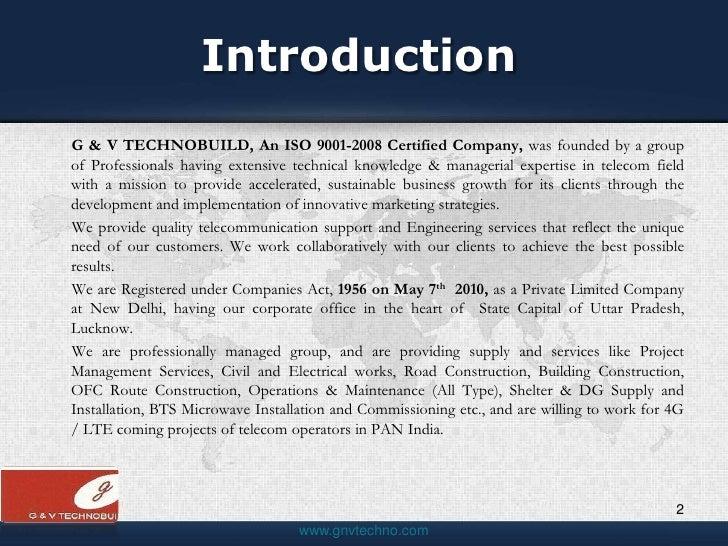 G&VTechnobuild Pvt Ltd Company Profile
