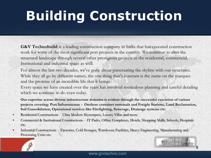 Construction company profile template pdf for Housing construction companies