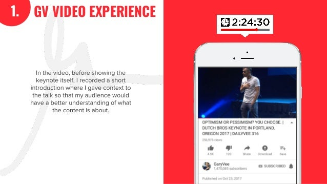 35 In the video, before showing the keynote itself, I recorded a short introduction where I gave context to the talk so th...