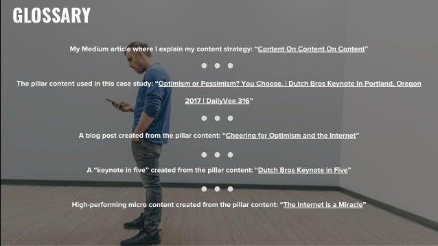 "GLOSSARY My Medium article where I explain my content strategy: ""Content On Content On Content"" The pillar content used in..."