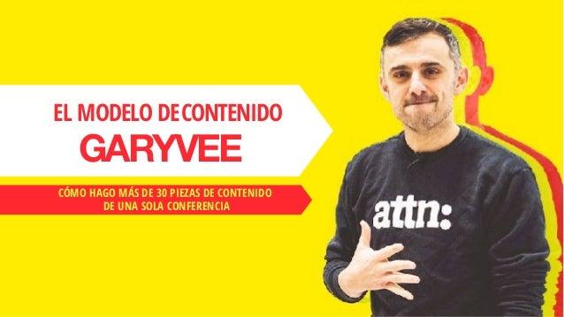 EL MODELO DECONTENIDO GARYVEE CÓMO HAGO MÁS DE 30 PIEZAS DE CONTENIDO DE UNA SOLA CONFERENCIA