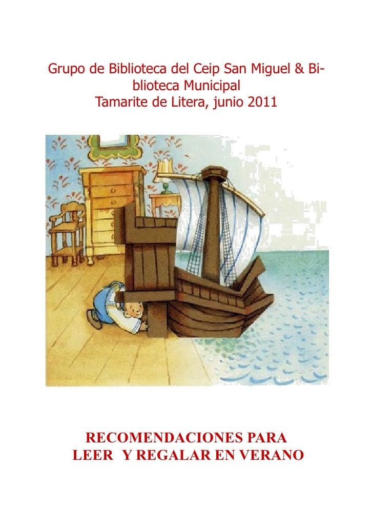 Grupo de Biblioteca del Ceip San Miguel & Bi-                blioteca Municipal         Tamarite de Litera, ...