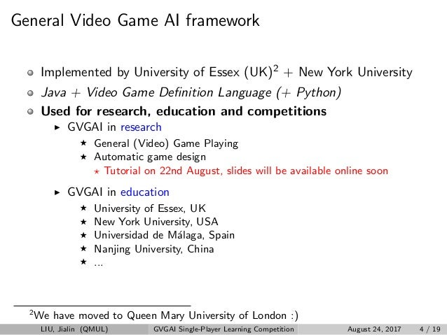 GVGAI Single-Player Learning Competition at IEEE CIG17