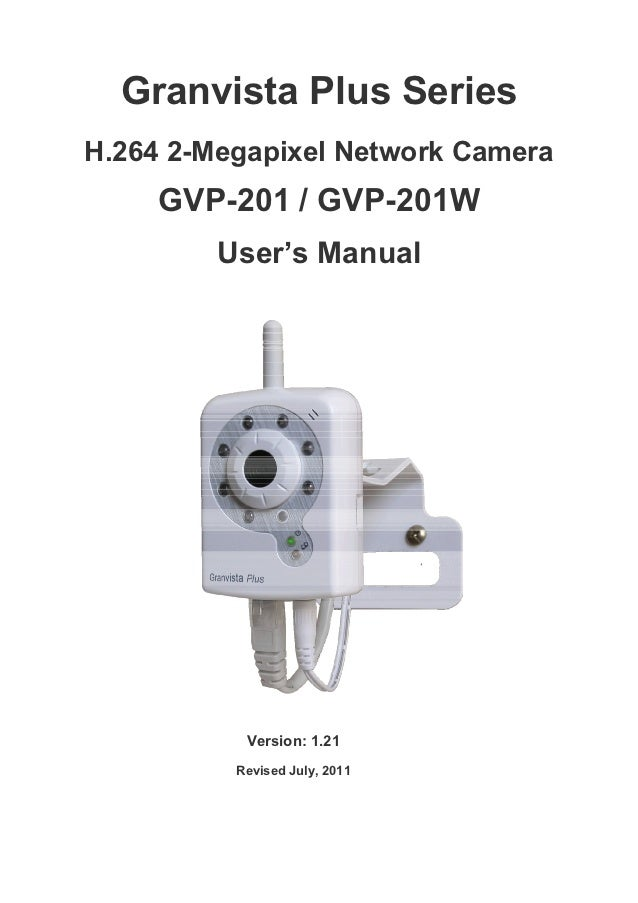 Granvista Plus SeriesH.264 2-Megapixel Network Camera     GVP-201 / GVP-201W         User's Manual           Version: 1.21...