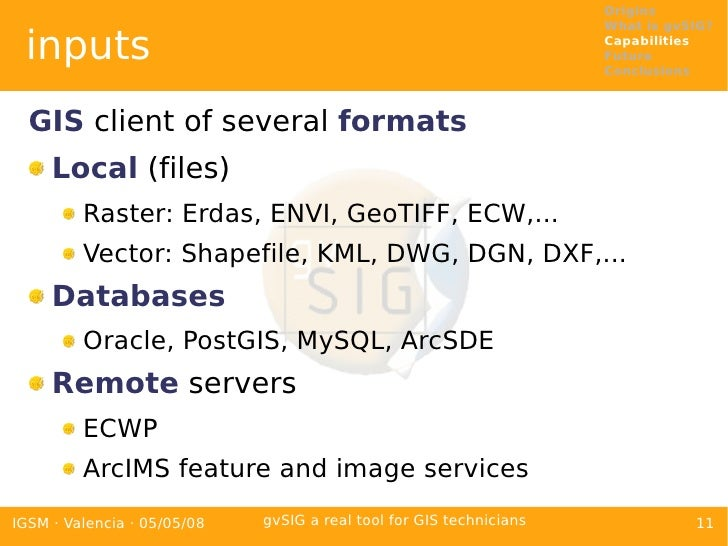 gvSIG a real tool for GIS technicians