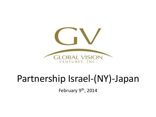 Partnership Israel-(NY)-Japan February 9th, 2014