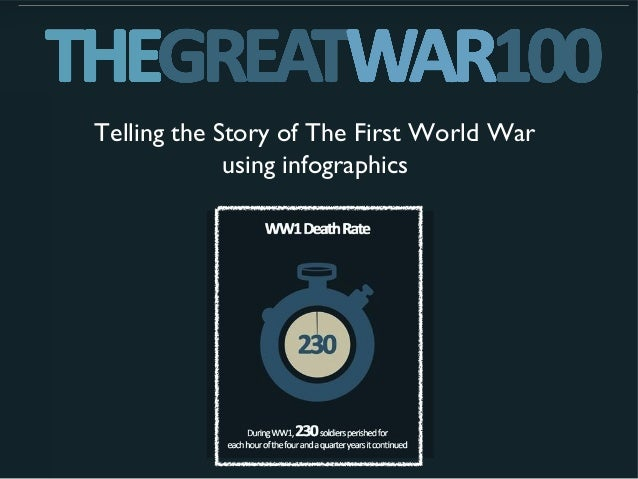Telling the Story of The First World War             using infographics