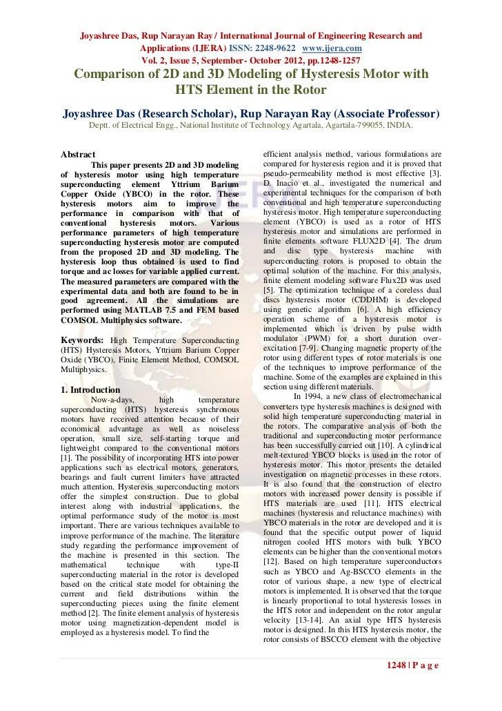 Joyashree Das, Rup Narayan Ray / International Journal of Engineering Research and                    Applications (IJERA)...