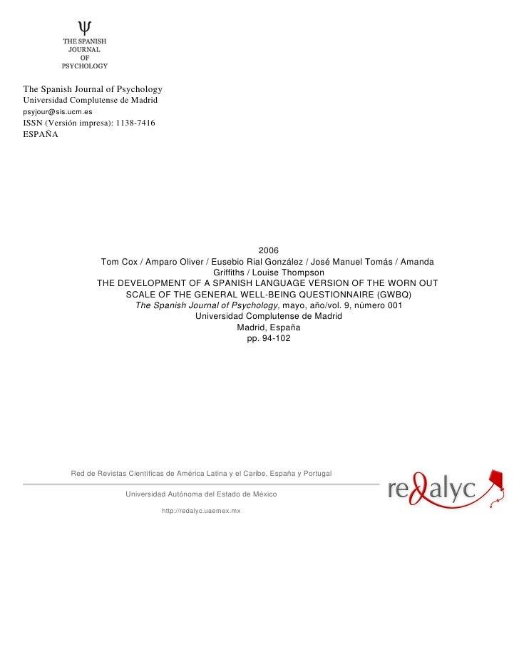 The Spanish Journal of PsychologyUniversidad Complutense de Madridpsyjour@sis.ucm.esISSN (Versión impresa): 1138-7416ESPAÑ...